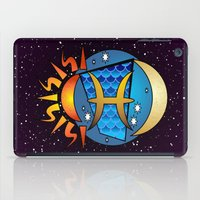 astrology iPad Cases featuring Astrology, fish by Karl-Heinz Lüpke