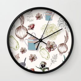 Cozy kitchen garden Wall Clock