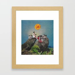 taller in another dimension Framed Art Print
