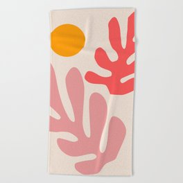 Henri Matisse - Leaves - Blush Beach Towel