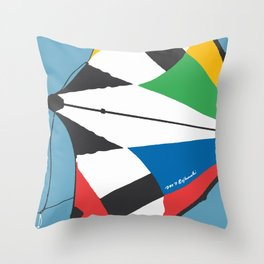 Kite—Sky Blue Throw Pillow