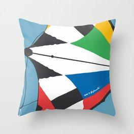 Kite—Sky Blue Throw Pillow