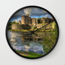 Caerphilly Castle Moat Wall Clock