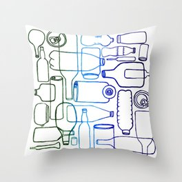 connected bottles Throw Pillow