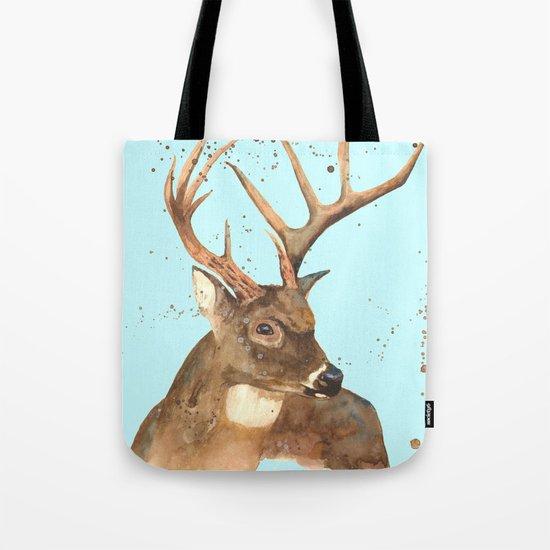 Ice Reindeer Tote Bag
