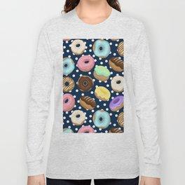 Donuts Love Pattern Long Sleeve T-shirt