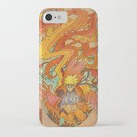 naruto iPhone & iPod Cases featuring Woodblock Naruto by Sempaiko