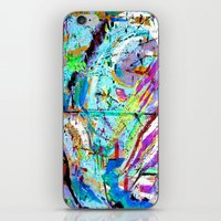 bastille iPhone & iPod Skins featuring Laughter Lines // Bastille by l.w.