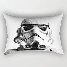 Stormtrooper Hand Drawn Dotwork - StarWars Pointillism Artwork Rectangular Pillow