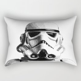 Stormtrooper Hand Drawn Dotwork - StarWars Pointillism Artwork Rectangular Pillow