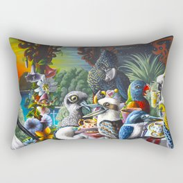Chit-Chat On The Island Rectangular Pillow