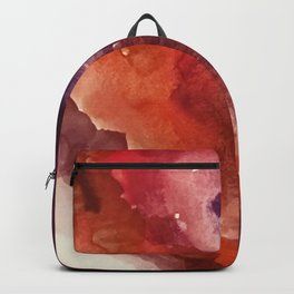 Starlight [3]: a pretty abstract watercolor piece in reds and purples by Alyssa Hamilton Art Backpack