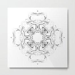 Graphic Black and White Mandala 3 Metal Print