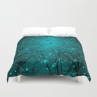 geometric Duvet Covers featuring One by One, the Infinite Stars Blossomed by soaring anchor designs