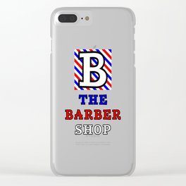 The Barber Shop Clear iPhone Case