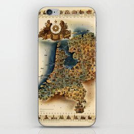 Map of Holland iPhone Skin