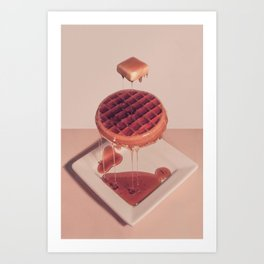 WAFFLE BUTTER AND SYRUP Art Print