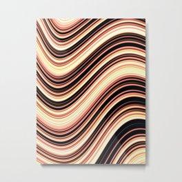 Wavy Brown Stripes Metal Print