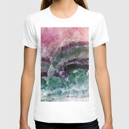 Pink & Green Watermelon Tourmaline Crystal T-shirt