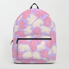 Frosted Animal Cookies on Lilac Backpack