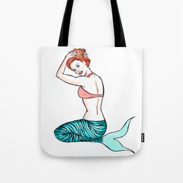 Tiger Mermaid Tote Bag