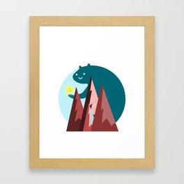 A Bright Sunrise Framed Art Print