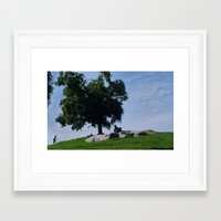 running Framed Art Prints featuring running by XfantasyArt