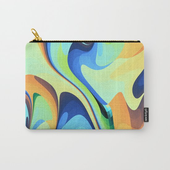 Color waves Water and Sun Carry-All Pouch