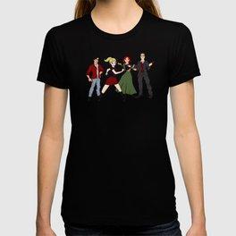 Cartoony Buffy and the gang T-shirt