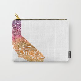 Typographic California - Autumn Carry-All Pouch
