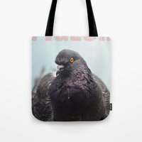 pigeon Tote Bags featuring Pigeon by PKennyPhoto