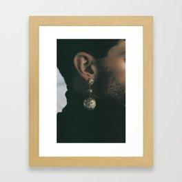 Carolina's earring on Khaled Framed Art Print