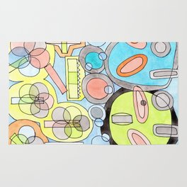 Abstract Star Colony Pattern Rug