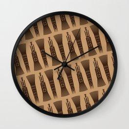 UrbanNesian Samoan Selu (Samoan Comb) Wall Clock
