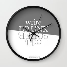 Write drunk, edit sober Wall Clock