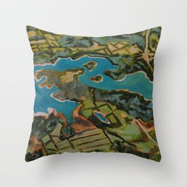 Approaching Nashville by Air #1 Throw Pillow