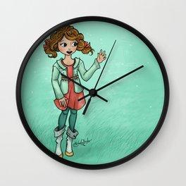 Misty Hello Wall Clock