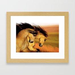 HORSES - The Buckskins Framed Art Print