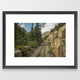 Tracks to where? Framed Art Print