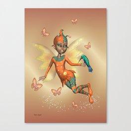 Pixie .. fantasy fairy art Canvas Print