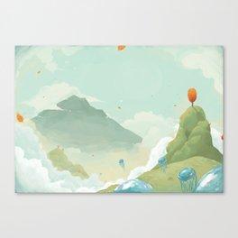 Mass Jellyfish Exodus Canvas Print