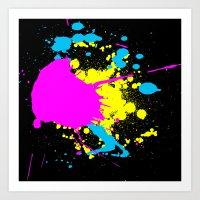 splatter Art Prints featuring Splatter by Spooky Dooky