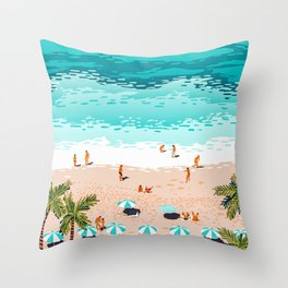 Dream in Colors Borrowed From The Sea #illustration Throw Pillow