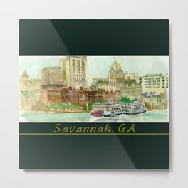 Savannah Postcard Metal Print