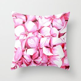 Blooming hydrangea Throw Pillow
