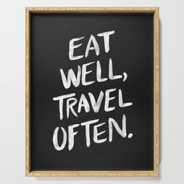 Eat Well, Travel Often Serving Tray