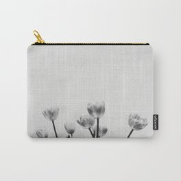 Black & White Tulips Carry-All Pouch