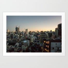 Tokyo Skyline at Dusk Art Print