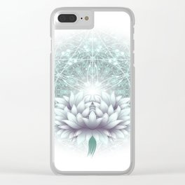 Tibet. Sacred geometry. Flower of Life Clear iPhone Case