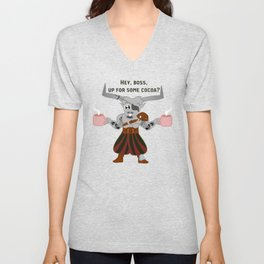 Iron Bull and His Cocoa Unisex V-Neck